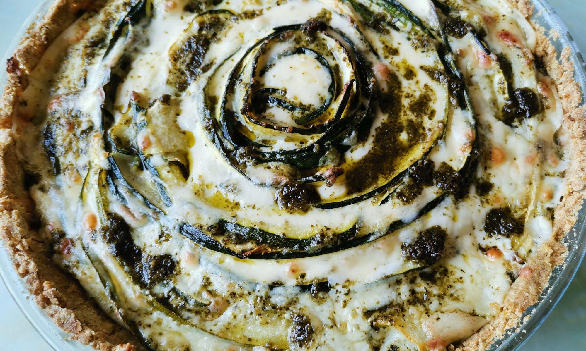 juustoinen kesäkurpitsapiiras